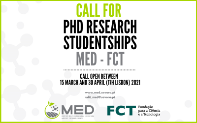 Call for PhD Research Studentships MED – FCT